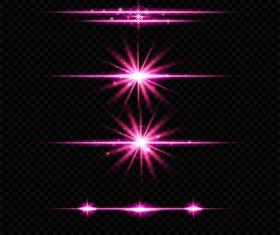 Purple light effect vector illustration 01