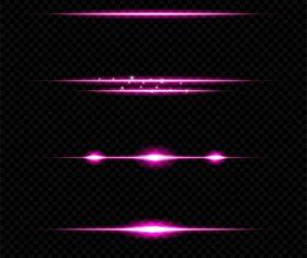 Purple light effect vector illustration 02