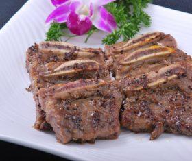 Put dish steak Stock Photo 01