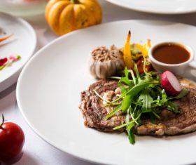Put dish steak Stock Photo 02