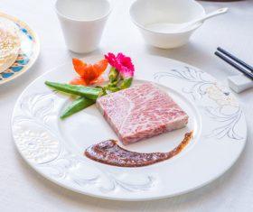 Put dish steak Stock Photo 03