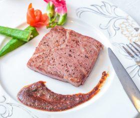 Put dish steak Stock Photo 04