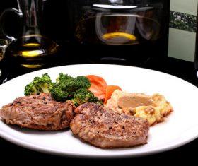 Put dish steak Stock Photo 05