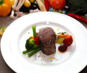 Put dish steak Stock Photo 07