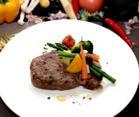 Put dish steak Stock Photo 08