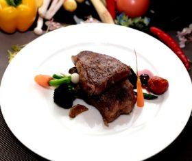 Put dish steak Stock Photo 09