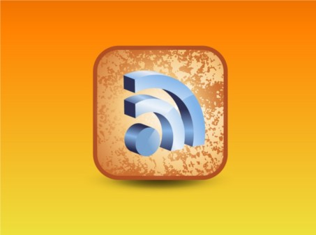 RSS 3D Icon vector