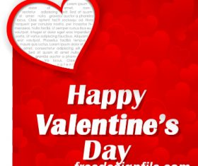 Red happy valentine day background vector