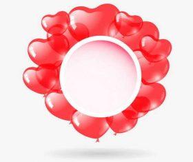 Red heart balloon valentine illustration vecrtor