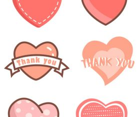 Red thanksgiving love heart vector
