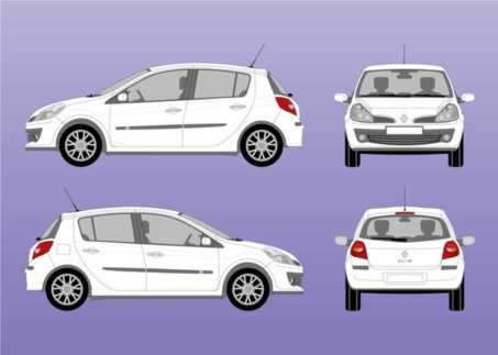 Renault Clio vectors graphic