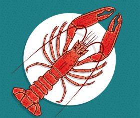 Restaurant lobster sea food vector