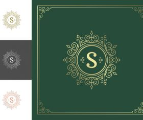 Retro background template with decor ornaments vector 08