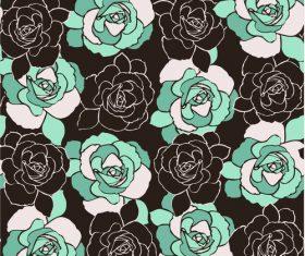 Rose flower background pattern vector