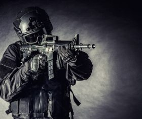 SWAT using firearms Stock Photo 06