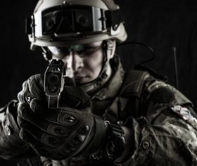SWAT using firearms Stock Photo 09