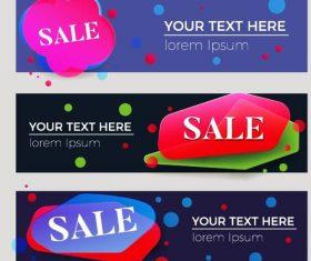 Sale discount banners vector set 02