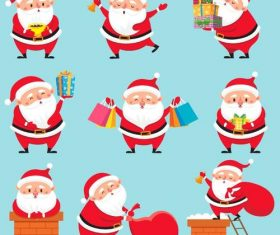 Santa illustration with christmas gift vector 02
