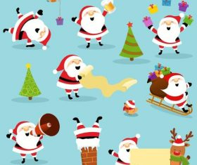 Santa illustration with christmas gift vector 04