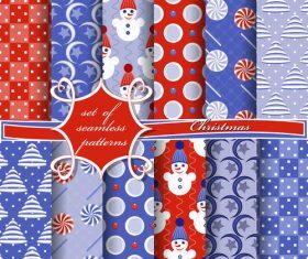 Set of seamless pattern christmas vectors 01