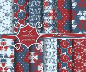 Set of seamless pattern christmas vectors 02
