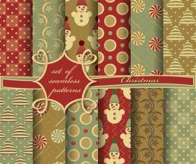 Set of seamless pattern christmas vectors 03