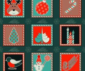Set of seamless pattern christmas vectors 07
