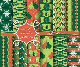 Set of seamless pattern christmas vectors 08