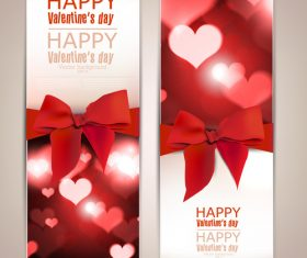 Set of vertical cards for valentine day vector 03