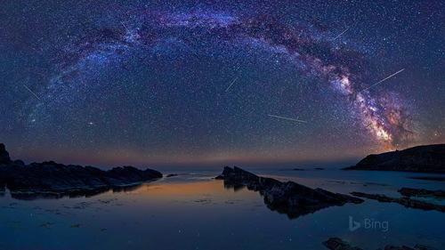 Shining night sky Stock Photo