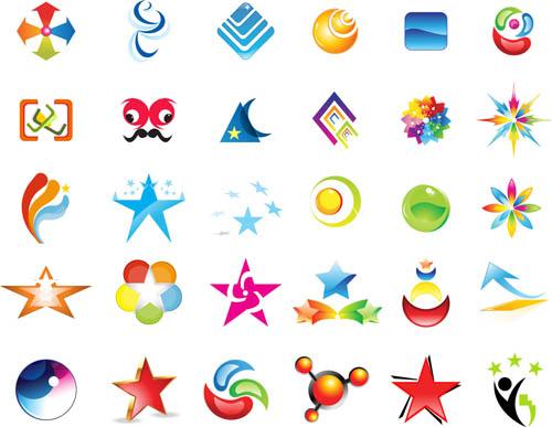 Shiny Creative Logos set 1 vectors