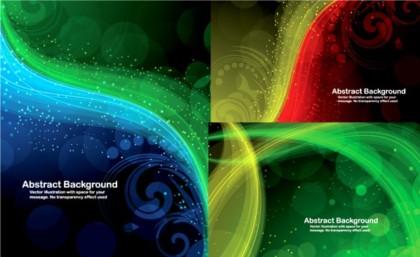 Shiny fantasy background vector design