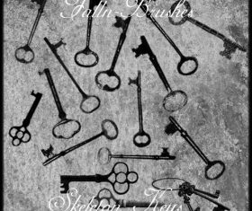 Skeleton Keys Photoshop Brushes