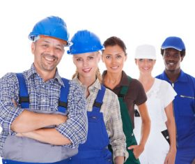 Smiling construction worker Stock Photo 01