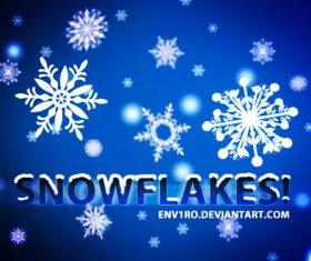Snowflakes Photoshop Brushes set