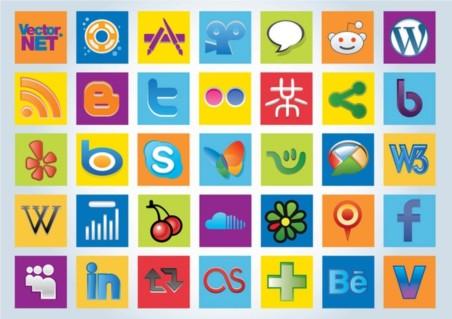Social Logos vector