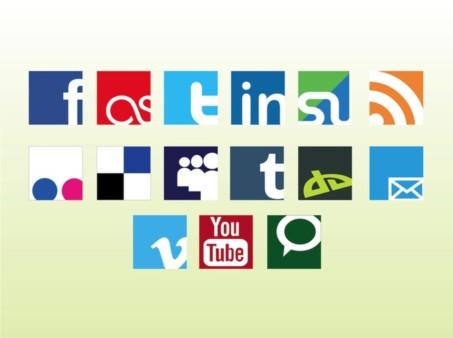Social Web Logos vector