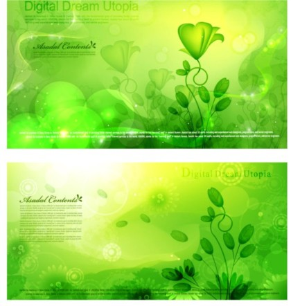 Spring is in air green fantasy background vectors