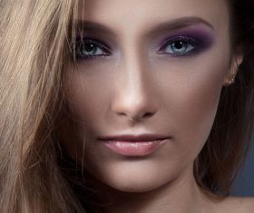 Stock Photo Beautiful womans beautiful eye makeup 02