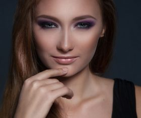Stock Photo Beautiful womans beautiful eye makeup 03