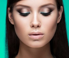 Stock Photo Beautiful womans beautiful eye makeup 05