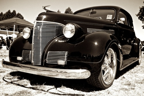 Stock Photo Classic old fashioned car 03