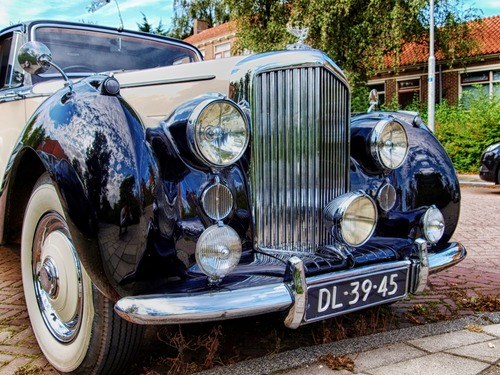 Stock Photo Classic old fashioned car 07