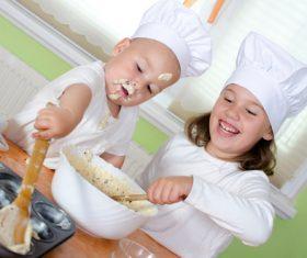 Stock Photo Cute child chef