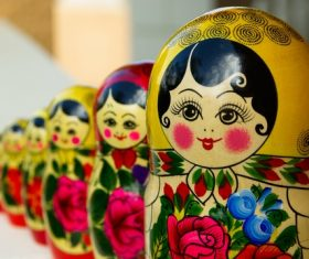 Stock Photo Exquisite and beautiful Russian matryoshka 01