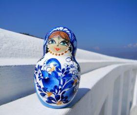 Stock Photo Exquisite and beautiful Russian matryoshka 03