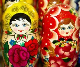 Stock Photo Exquisite and beautiful Russian matryoshka 07