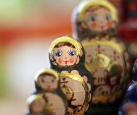 Stock Photo Exquisite and beautiful Russian matryoshka 08