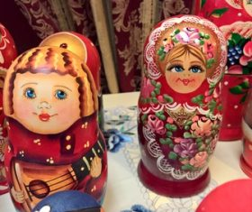 Stock Photo Exquisite and beautiful Russian matryoshka 09