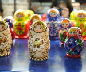 Stock Photo Exquisite and beautiful Russian matryoshka 11